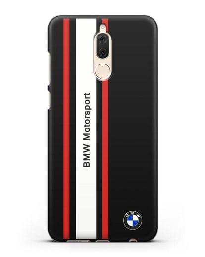 Чехол BMW Motorsport силикон черный для Huawei Nova 2
