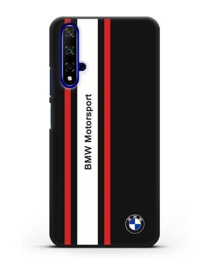 Чехол BMW Motorsport силикон черный для Huawei Nova 5T