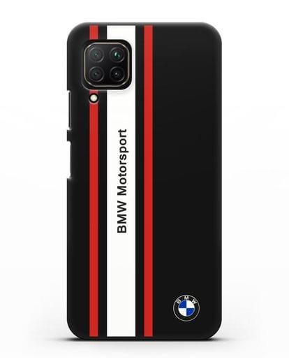 Чехол BMW Motorsport силикон черный для Huawei Nova 7i