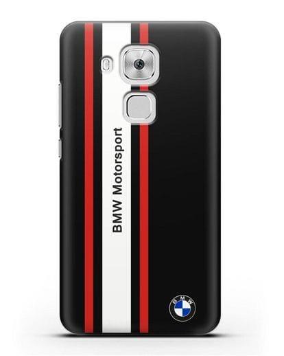 Чехол BMW Motorsport силикон черный для Huawei Nova Plus