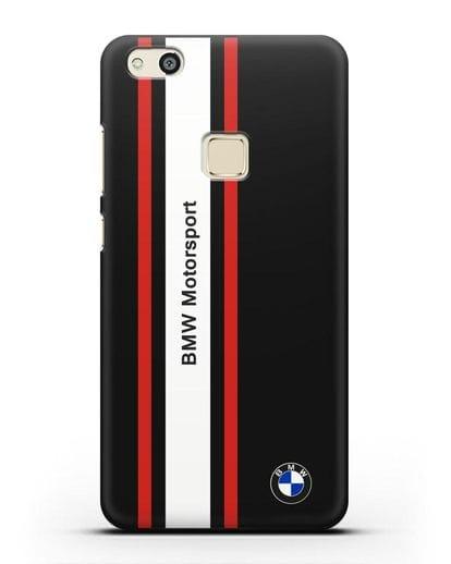 Чехол BMW Motorsport силикон черный для Huawei P10 Lite