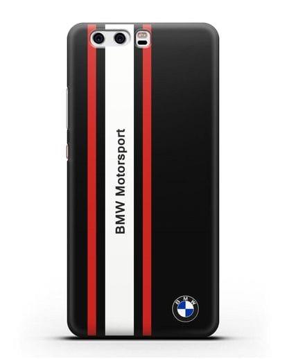 Чехол BMW Motorsport силикон черный для Huawei P10 Plus