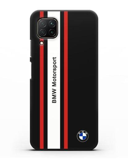 Чехол BMW Motorsport силикон черный для Huawei P40 lite