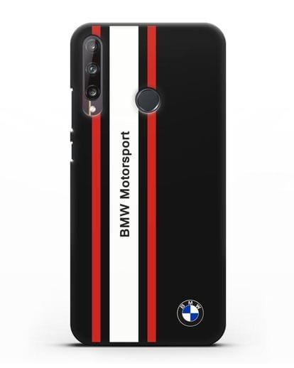 Чехол BMW Motorsport силикон черный для Huawei P40 lite E