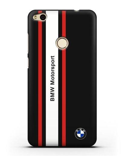 Чехол BMW Motorsport силикон черный для Huawei P8 Lite 2017