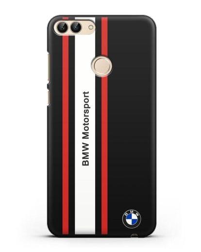 Чехол BMW Motorsport силикон черный для Huawei P Smart