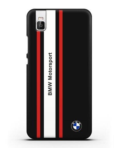 Чехол BMW Motorsport силикон черный для Huawei Shot X