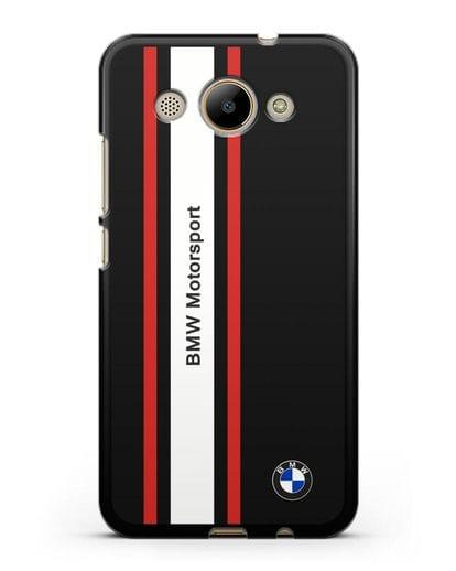 Чехол BMW Motorsport силикон черный для Huawei Y3 2017