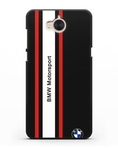 Чехол BMW Motorsport силикон черный для Huawei Y5 2017