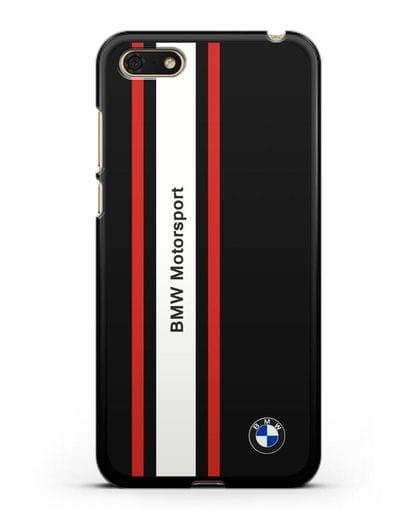 Чехол BMW Motorsport силикон черный для Huawei Y5 Prime 2018