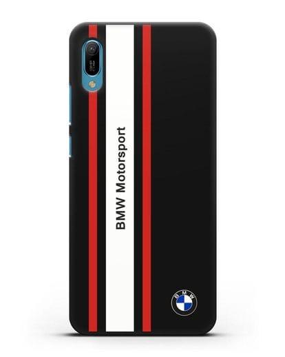Чехол BMW Motorsport силикон черный для Huawei Y6 2019