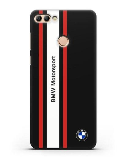 Чехол BMW Motorsport силикон черный для Huawei Y9 2018