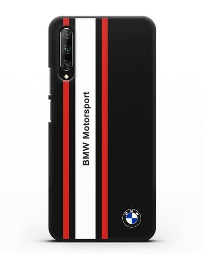 Чехол BMW Motorsport силикон черный для Huawei Y9s