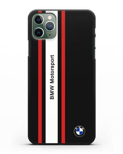 Чехол BMW Motorsport силикон черный для iPhone 11 Pro Max