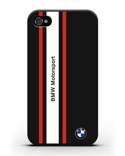 Чехол BMW Motorsport силикон черный для iPhone 4/4s