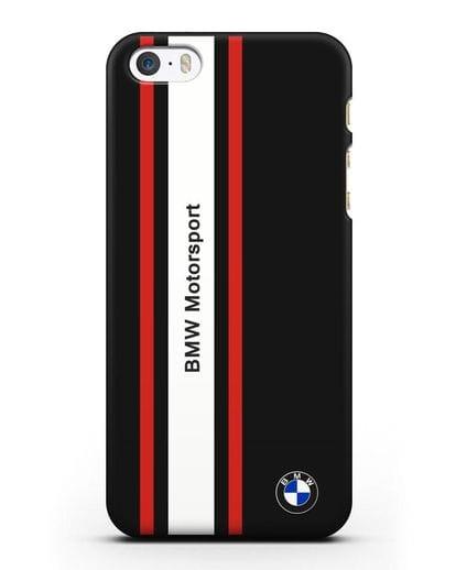 Чехол BMW Motorsport силикон черный для iPhone 5/5s/SE