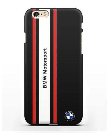 Чехол BMW Motorsport силикон черный для iPhone 6s