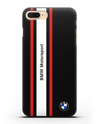 Чехол BMW Motorsport силикон черный для iPhone 8 Plus