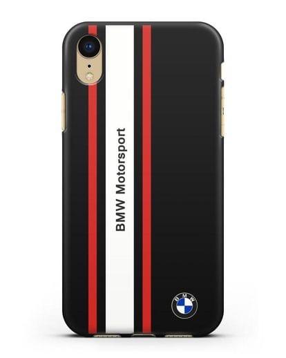 Чехол BMW Motorsport силикон черный для iPhone XR