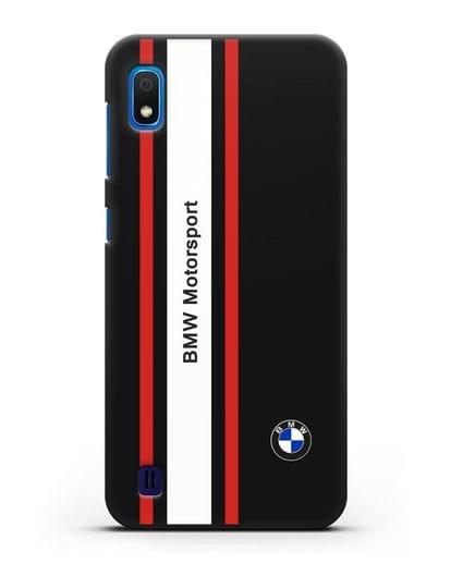 Чехол BMW Motorsport силикон черный для Samsung Galaxy A10 [SM-A105F]