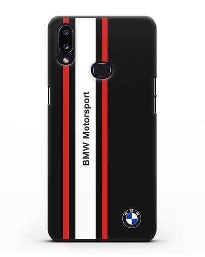Чехол BMW Motorsport силикон черный для Samsung Galaxy A10s [SM-F107F]