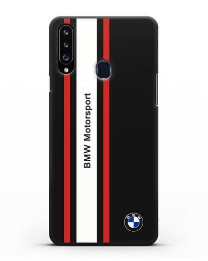 Чехол BMW Motorsport силикон черный для Samsung Galaxy A20s [SM-A207FN]