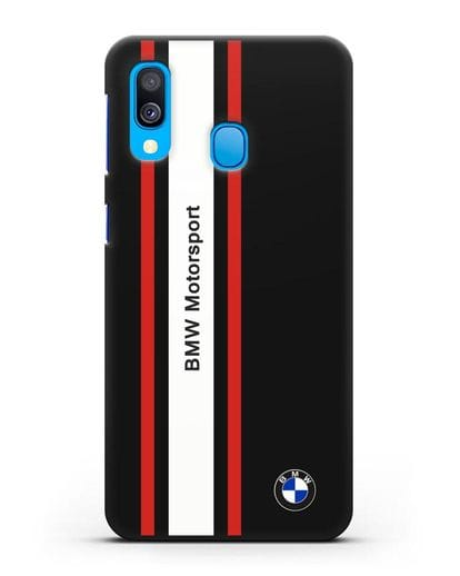 Чехол BMW Motorsport силикон черный для Samsung Galaxy A40 [SM-A405F]