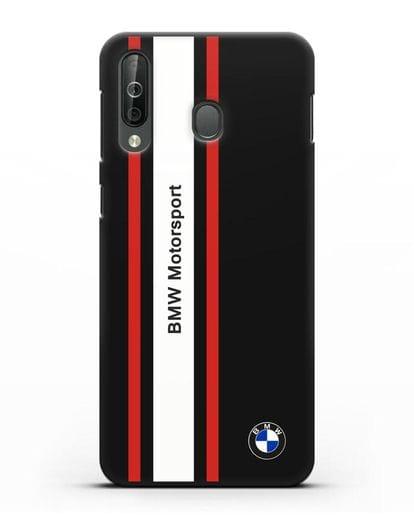 Чехол BMW Motorsport силикон черный для Samsung Galaxy A40s [SM-A507FN]