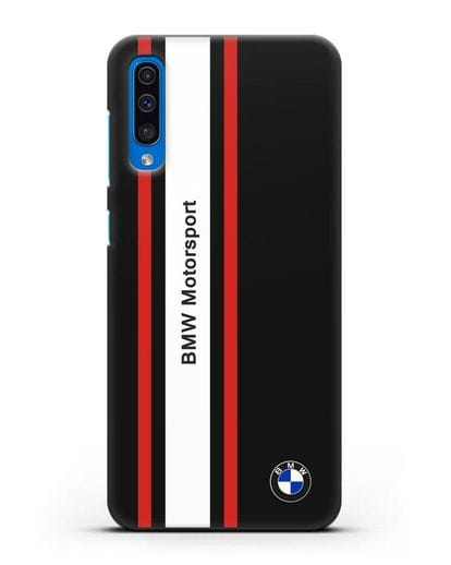 Чехол BMW Motorsport силикон черный для Samsung Galaxy A50 [SM-A505F]