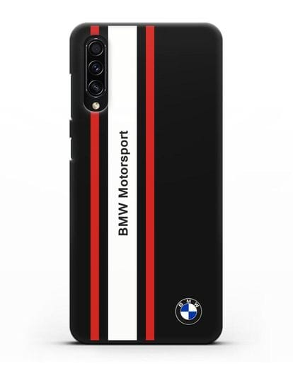 Чехол BMW Motorsport силикон черный для Samsung Galaxy A50s [SM-F507FN]