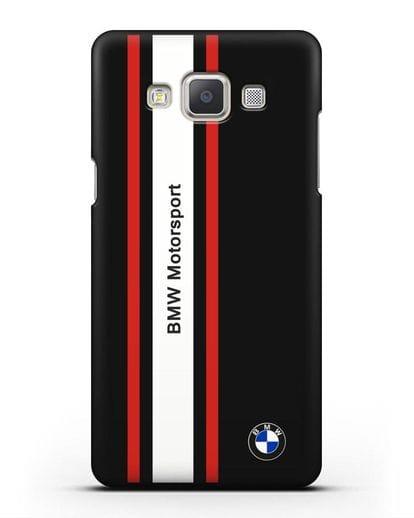Чехол BMW Motorsport силикон черный для Samsung Galaxy A7 2015 [SM-A700F]
