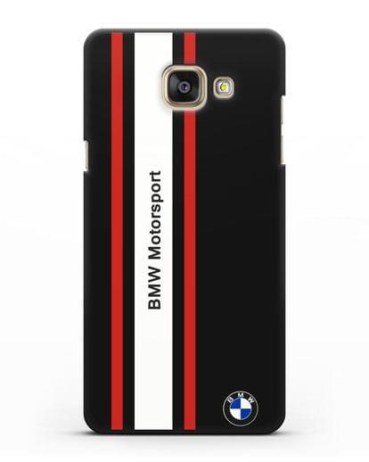 Чехол BMW Motorsport силикон черный для Samsung Galaxy A7 2016 [SM-A710F]