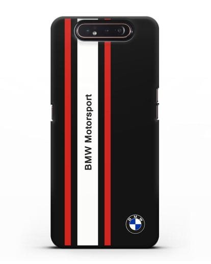 Чехол BMW Motorsport силикон черный для Samsung Galaxy A80 [SM-A805F]