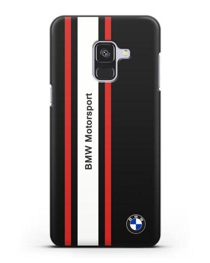 Чехол BMW Motorsport силикон черный для Samsung Galaxy A8 Plus [SM-A730F]