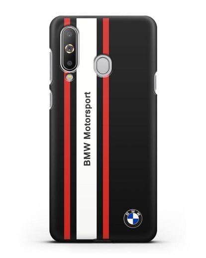 Чехол BMW Motorsport силикон черный для Samsung Galaxy A8s [SM-G8870]