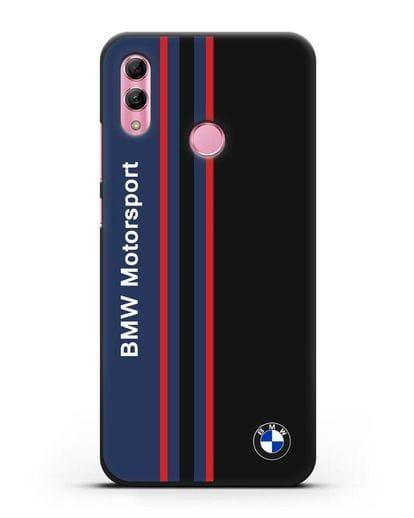 Чехол с надписью BMW Motorsport силикон черный для Honor 10 Lite