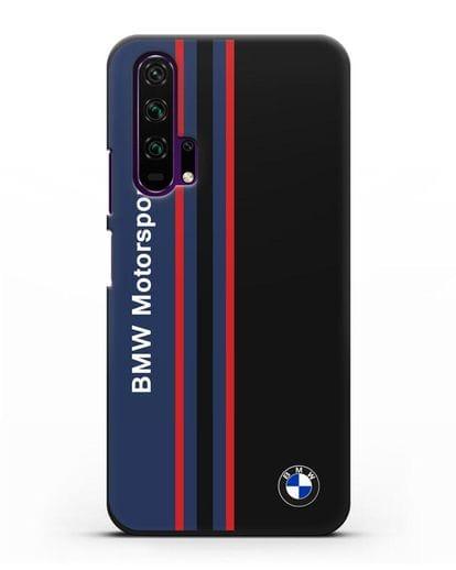 Чехол с надписью BMW Motorsport силикон черный для Honor 20 Pro