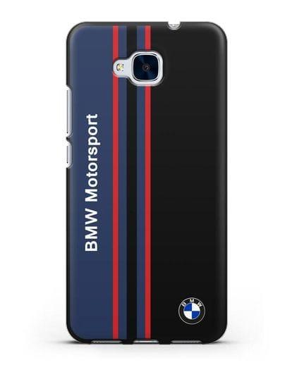 Чехол с надписью BMW Motorsport силикон черный для Honor 5C