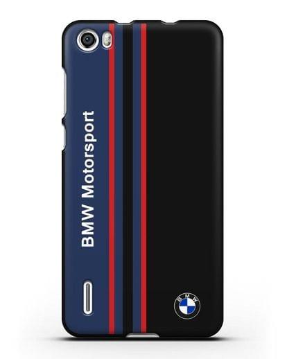 Чехол с надписью BMW Motorsport силикон черный для Honor 6
