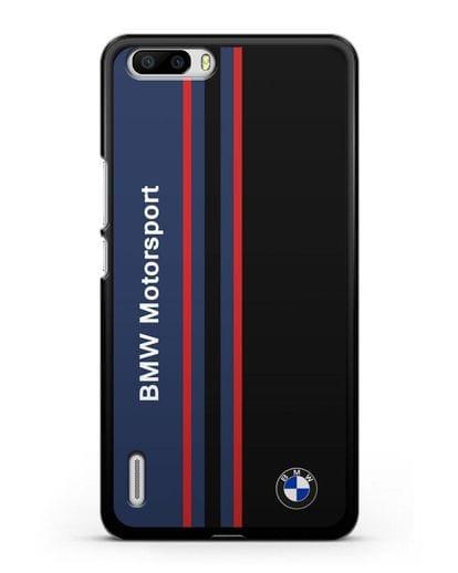 Чехол с надписью BMW Motorsport силикон черный для Honor 6 Plus