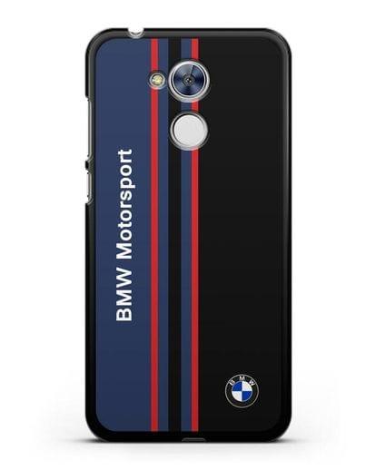 Чехол с надписью BMW Motorsport силикон черный для Honor 6A
