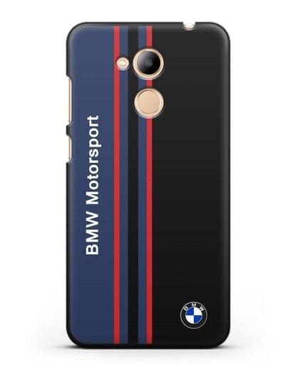 Чехол с надписью BMW Motorsport силикон черный для Honor 6C Pro