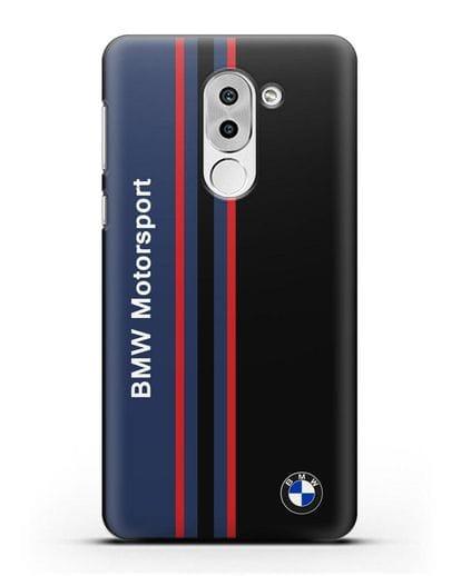 Чехол с надписью BMW Motorsport силикон черный для Honor 6X