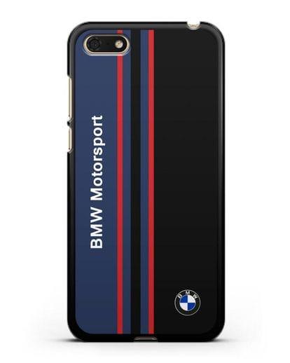 Чехол с надписью BMW Motorsport силикон черный для Honor 7А