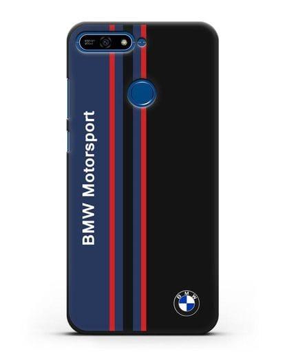 Чехол с надписью BMW Motorsport силикон черный для Honor 7А Pro