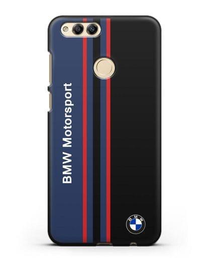 Чехол с надписью BMW Motorsport силикон черный для Honor 7X