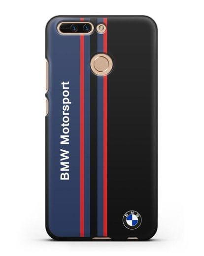 Чехол с надписью BMW Motorsport силикон черный для Honor 8 Pro