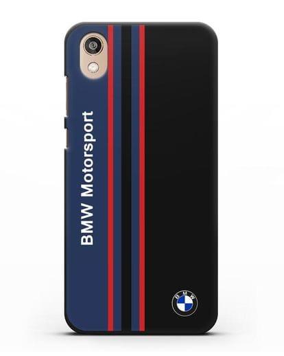 Чехол с надписью BMW Motorsport силикон черный для Honor 8S