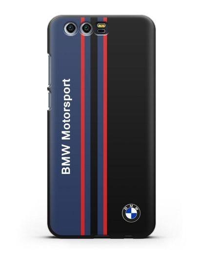 Чехол с надписью BMW Motorsport силикон черный для Honor 9