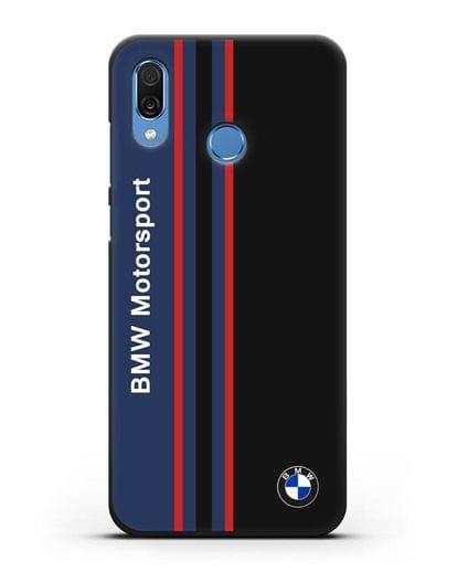 Чехол с надписью BMW Motorsport силикон черный для Honor Play
